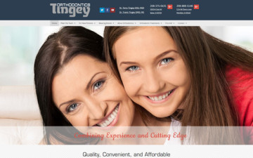 Tingey Orthodontics Idaho Website