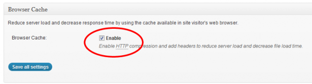 Enable Browser Caching